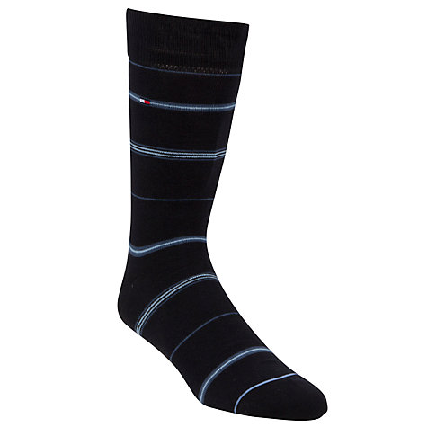 Buy Tommy Hilfiger Cotton Rich Socks, Pack of 3, Navy Online at johnlewis.com