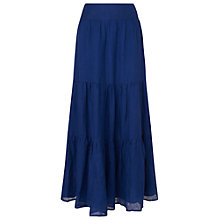 Buy Phase Eight Paige Linen Maxi Skirt, Cobalt Online at johnlewis.com