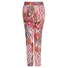 Buy Mango Printed Tapered Trousers, Multi Online at johnlewis.com