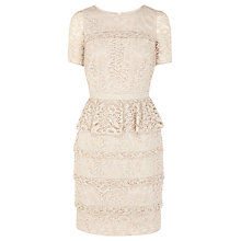 Buy Coast Kristina Lace Dress, Neutral Online at johnlewis.com