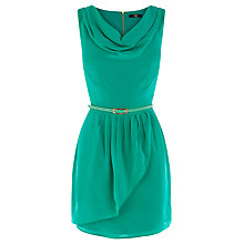 Buy Oasis Silk Cowl Neck Dress, Pale Green Online at johnlewis.com