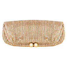 Buy Oasis Foldover Clutch Bag, Gold Online at johnlewis.com