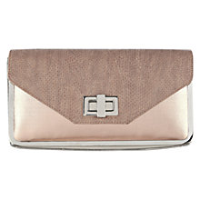 Buy Oasis Square Metal Framed Clutch Handbag, Coral Online at johnlewis.com