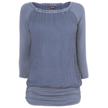 Buy Phase Eight Made in Italy Sara Silk Blouse, Slate Blue Online at johnlewis.com