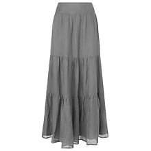 Buy Phase Eight Paige Linen Skirt, Grey Online at johnlewis.com