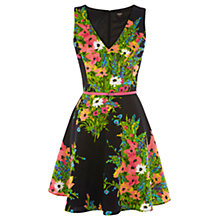Buy Oasis Botanical Fit and Flare Dress, Multi Online at johnlewis.com