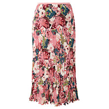 Buy CC Floral Crinkled Skirt, Multi Online at johnlewis.com