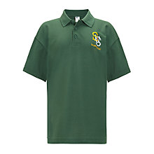 Buy Sharnbrook Upper School Unisex Polo Shirt, Bottle Green Online at johnlewis.com