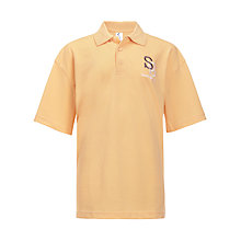 Buy Sharnbrook Upper School Unisex Polo Shirt, Gold Online at johnlewis.com