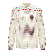Buy Somerset by Alice Temperley Feather Print Blouse, Multi Online at johnlewis.com