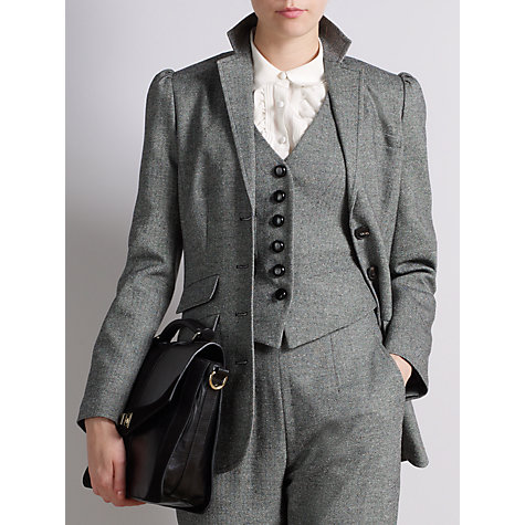Buy Somerset by Alice Temperley Donegal Tweed Jacket, Grey Online at johnlewis.com