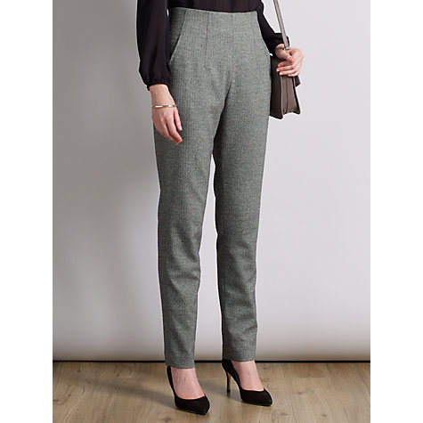 Buy Somerset by Alice Temperley Donegal Tweed High Waist Trousers, Grey Online at johnlewis.com