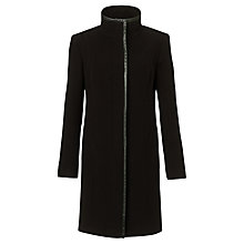 Buy John Lewis Leatherette Coat, Black Online at johnlewis.com