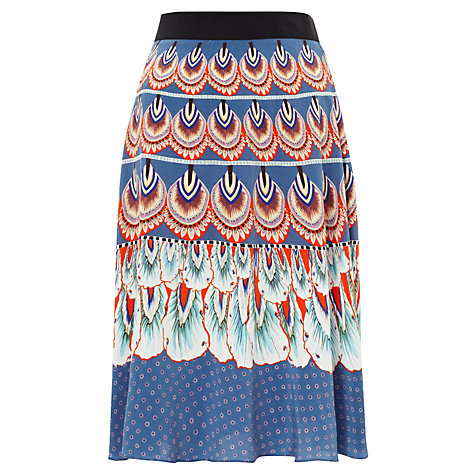 Buy Somerset by Alice Temperley Feather Print Skirt, Multi Online at johnlewis.com