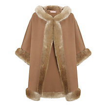 Buy John Lewis Maria Hooded Cape Coat, Camel Online at johnlewis.com