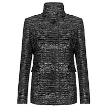 Buy John Lewis Tweed Short Coat, Black/White Online at johnlewis.com