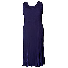 Buy Chesca Crush Pleated Dress, Violet Online at johnlewis.com
