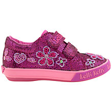Buy Lelli Kelly Dafne Strap Trainers, Pink Online at johnlewis.com