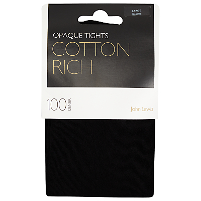John Lewis 100 Denier Opaque Cotton Tights