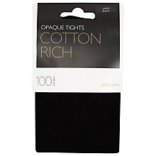 Buy John Lewis 100 Denier Cotton Tights Online at johnlewis.com