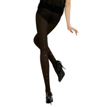 Buy Jonathan Aston Diamante Backseam Tights, Black Online at johnlewis.com