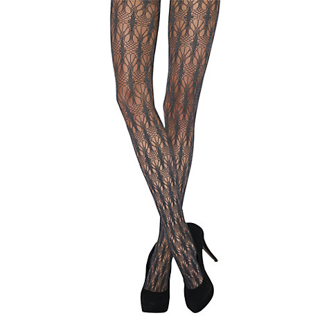 Buy Jonathan Aston Leonora Tights, Black Online at johnlewis.com