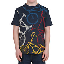 Buy Animal Boys' Bicycle T-Shirt, Navy Blue Online at johnlewis.com