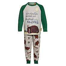 Buy Gruffalo Pyjama Set, Grey/Green Online at johnlewis.com