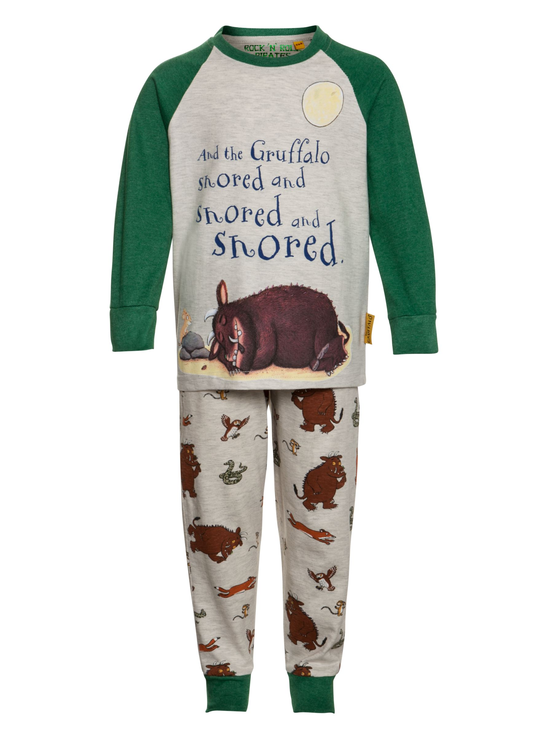 Gruffalo Pyjama Set, Grey/Green