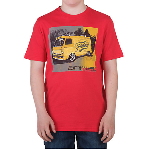 Buy Animal Boys' Harlee Graphic T Shirt, Red Online at johnlewis.com