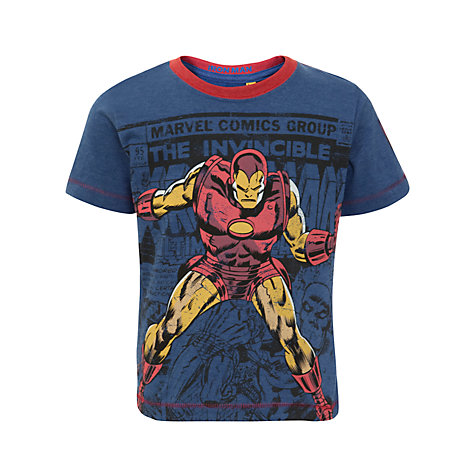 Buy Iron Man Comic T-Shirt, Navy Online at johnlewis.com