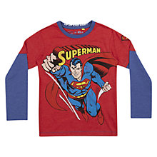 Buy Superman Flying Long Sleeved T-Shirt, Red Online at johnlewis.com