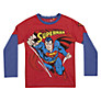 Superman Flying Long Sleeved T-Shirt, Red