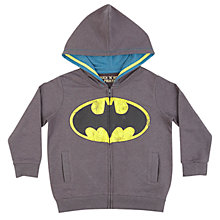 Buy Batman Zip Thru Long Sleeve Hoodie, Grey Online at johnlewis.com