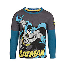 Buy Batman Long Sleeve Layer Top, Grey Online at johnlewis.com