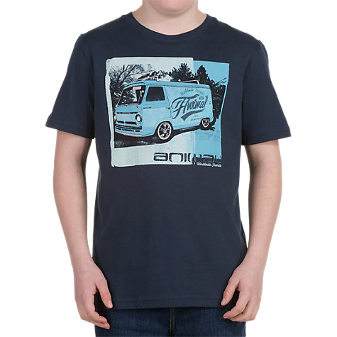Buy Animal Boys' Harlee Graphic T Shirt, Blue Online at johnlewis.com