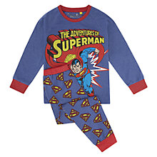 Buy Superman Adventure Pyjamas, Blue Online at johnlewis.com