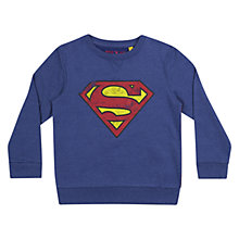 Buy Superman Boys' Sweatshirt, Blue Online at johnlewis.com
