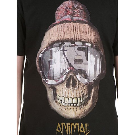 Buy Animal Boys' Hatus Graphic T-Shirt, Black Online at johnlewis.com