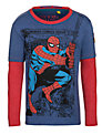 Spider-Man Long Sleeve Layer Top, Blue/Red