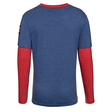 Buy Spider-Man Long Sleeve Layer Top, Blue/Red Online at johnlewis.com