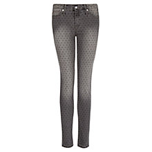 Buy Mango Denim Star Slim Leg Jeans, Grey Online at johnlewis.com