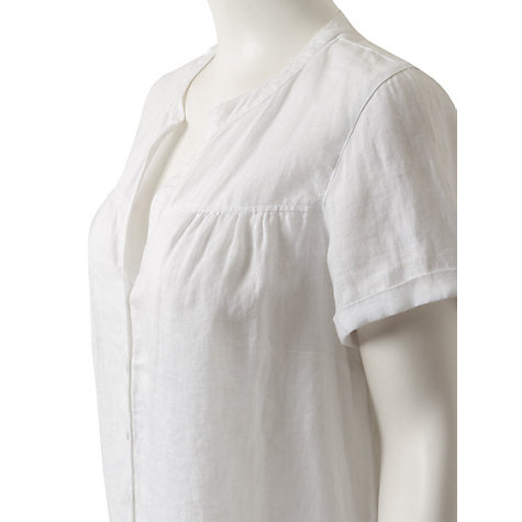 Buy East Short Sleeve Yoke Detail Blouse, White Online at johnlewis.com