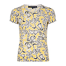 Buy French Connection Fun Print Jumper, Yellow Online at johnlewis.com