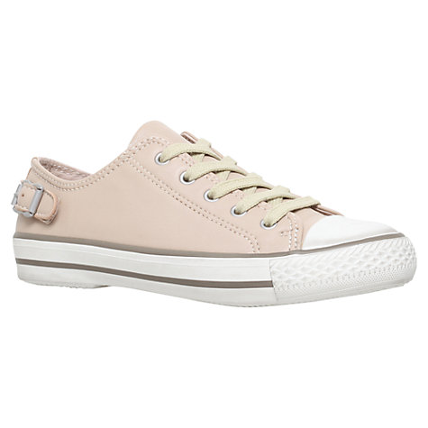 Buy Kurt Geiger Liberty Leather Trainers, Nude Online at johnlewis.com