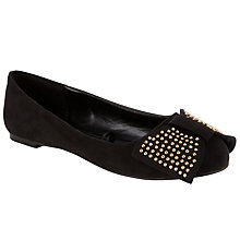 Buy Collection WEEKEND by John Lewis Angkor Studded Bow Ballerina Pumps, Black Online at johnlewis.com