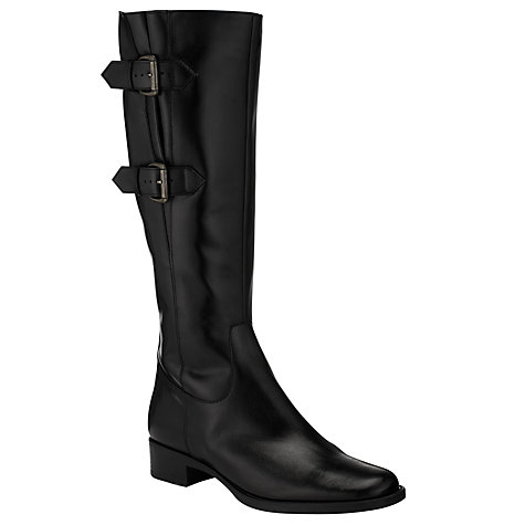 Buy John Lewis Simon Adjustable Calf Boots, Black Online at johnlewis.com