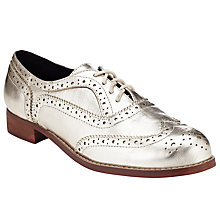Buy Collection WEEKEND by John Lewis Basil Brogue Shoes, Light Gold Online at johnlewis.com