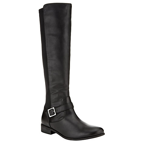 Buy John Lewis Paisy Knee Boots, Black Online at johnlewis.com
