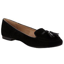 Buy Collection WEEKEND by John Lewis Chichen Tassel Slipper Shoes, Black Online at johnlewis.com